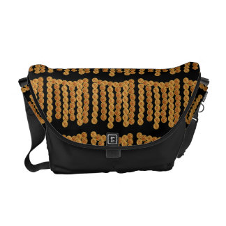 Gold chains courier bag
