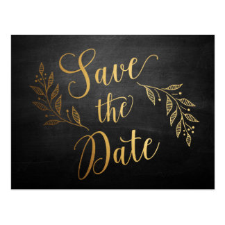 White Save The Date Postcard, Tempus Sans...(more) White Save The Date ...