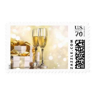 Gold Champagne Celebration Postage