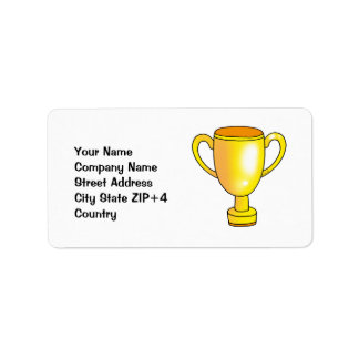 gold champion trophy cup label