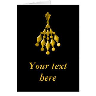 Gold chandelier card