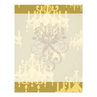 gold chandelier damask pattern flyer