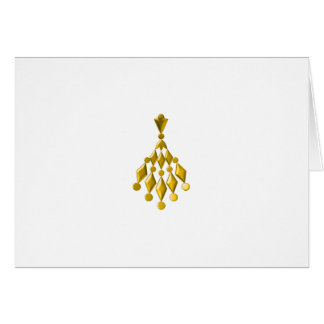 Gold chandelier greeting card
