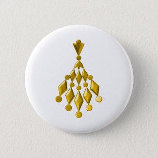 Gold chandelier pinback button