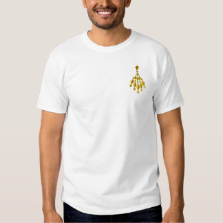 Gold chandelier tee shirts