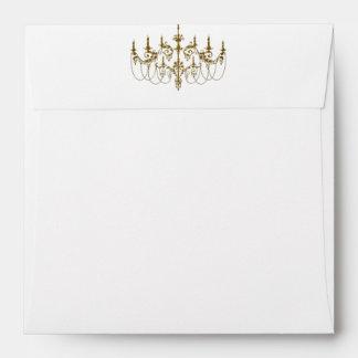 Gold Chandelier White Gold Envelope