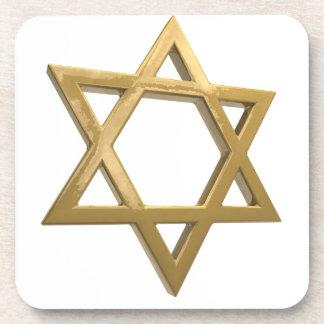 gold chanukkah star of david coaster