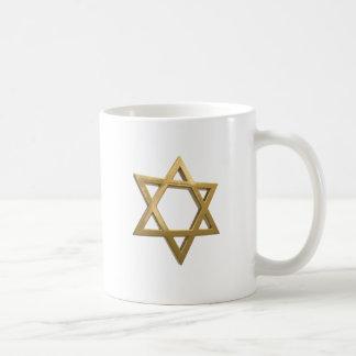 gold chanukkah star of david coffee mug
