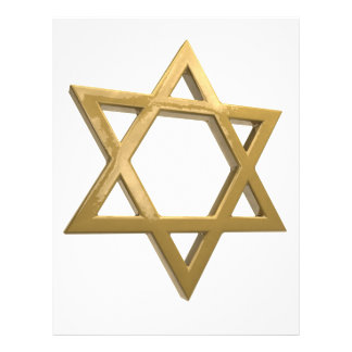gold chanukkah star of david letterhead