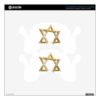 gold chanukkah star of david skins for PS3 controllers