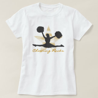 Gold Cheering Rocks T-shirts and Gifts