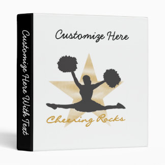 Gold Cheering Rocks T-shirts and Gifts 3 Ring Binders