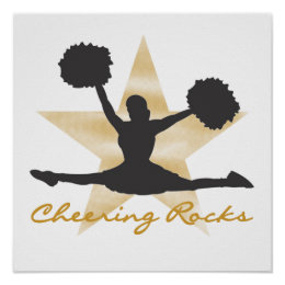 Gold Cheering Rocks T-shirts and Gifts Poster