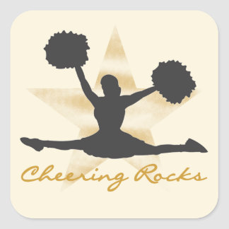 Gold Cheering Rocks T-shirts and Gifts Square Sticker