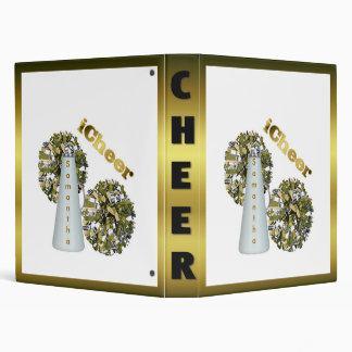 Gold Cheerleader Binder