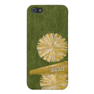 gold cheerleader pompoms iPhone SE/5/5s case