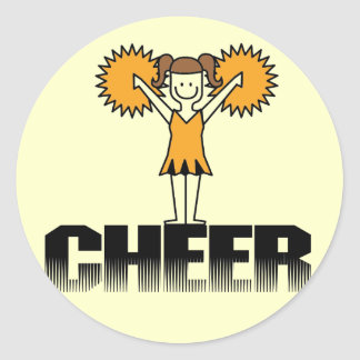 Gold Cheerleading T-shirts and Gifts Classic Round Sticker