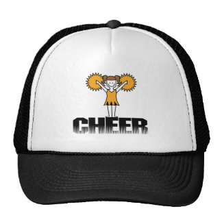 Gold Cheerleading T-shirts and Gifts Trucker Hat
