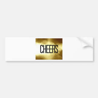 Gold Cheers New Years Eve Bumper Sticker