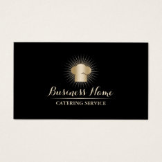 Gold Chef Hat Personal Chef Catering Service Business Card at Zazzle