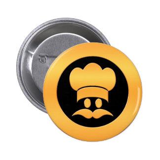 Gold Chef Head Pins