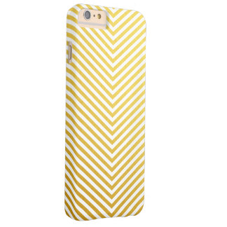 Gold chevron barely there iPhone 6 plus case