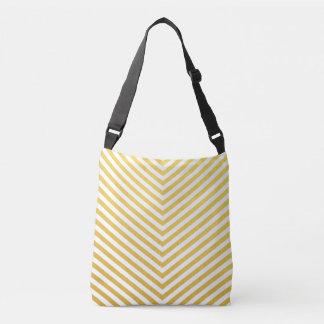 Gold chevron crossbody bag