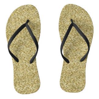 gold chevron flip flops