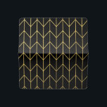 """Gold Chevron on Black Background Modern Chic Checkbook Cover<br><div class=""""desc"""">Contemporary, gold foil chevron pattern printed on a black solid color background. GraphicsByMimi &#169;. (Gold foil is a printed photo effect). Use to create your own one of a kind gift for you or your friends and family by personalizing it with your name, monogram, text or photo or leave as....</div>"""