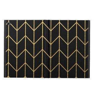 Gold Chevron on Black Background Modern Chic Powis iPad Air 2 Case
