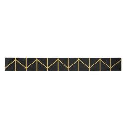 Gold Chevron on Black Background Modern Chic Satin Ribbon