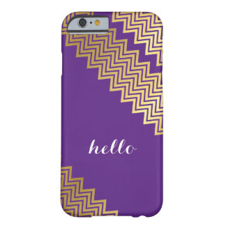 GOLD CHEVRON PATTERN modern trendy cute purple Barely There iPhone 6 Case