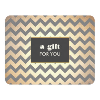 Gold Chevron Pattern Salon & Spa Gift Certificate Card
