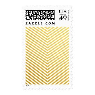 Gold chevron stamp