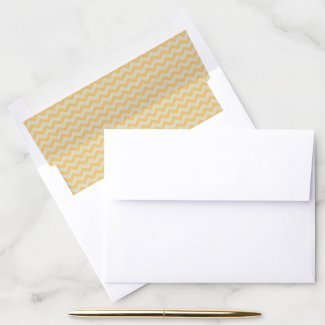 Gold Chevron Stripes Envelope Liner