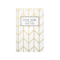 Gold Chevron White Background Modern Chic Journal