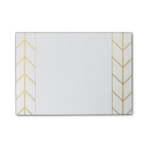 Gold Chevron White Background Modern Chic Post-it Notes
