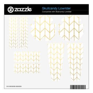 Gold Chevron White Background Modern Chic Skullcandy Lowrider Skins