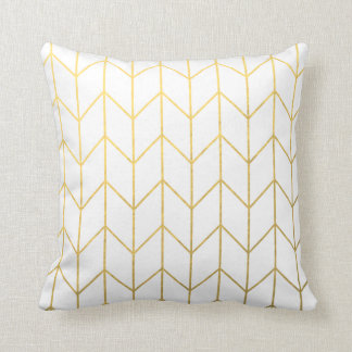 Modern White Pillows : Gold Pillows - Decorative & Throw Pillows Zazzle