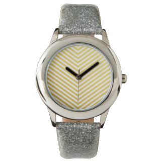 Gold chevron wrist watches