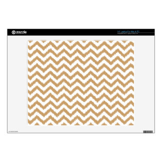 Gold Chevron Zigzag Pattern Decals For Laptops