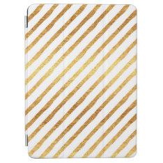 Gold Chevrons Faux Foil Metallic Chevron Pattern Ipad Air Cover at Zazzle