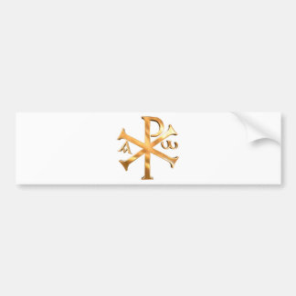 Gold Chi-Rho Bumper Sticker