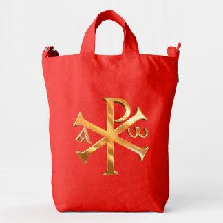 Gold Chi-Rho Duck Bag