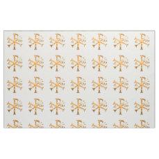 Gold Chi-Rho Fabric