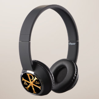 Gold Chi-Rho Headphones