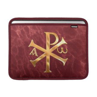 Gold Chi-Rho MacBook Air Sleeve
