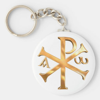 Gold Chi-Rho Keychain