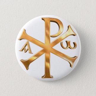 Gold Chi-Rho Pinback Button
