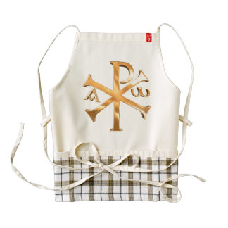 Gold Chi Rho Symbol Zazzle HEART Apron